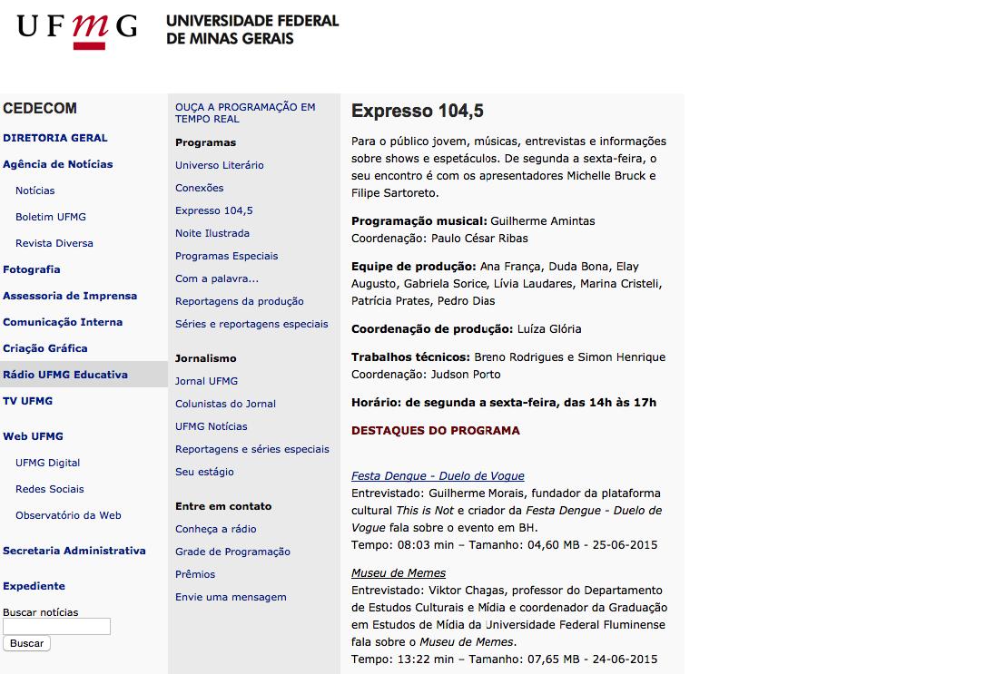 Rádio Expresso UFMG