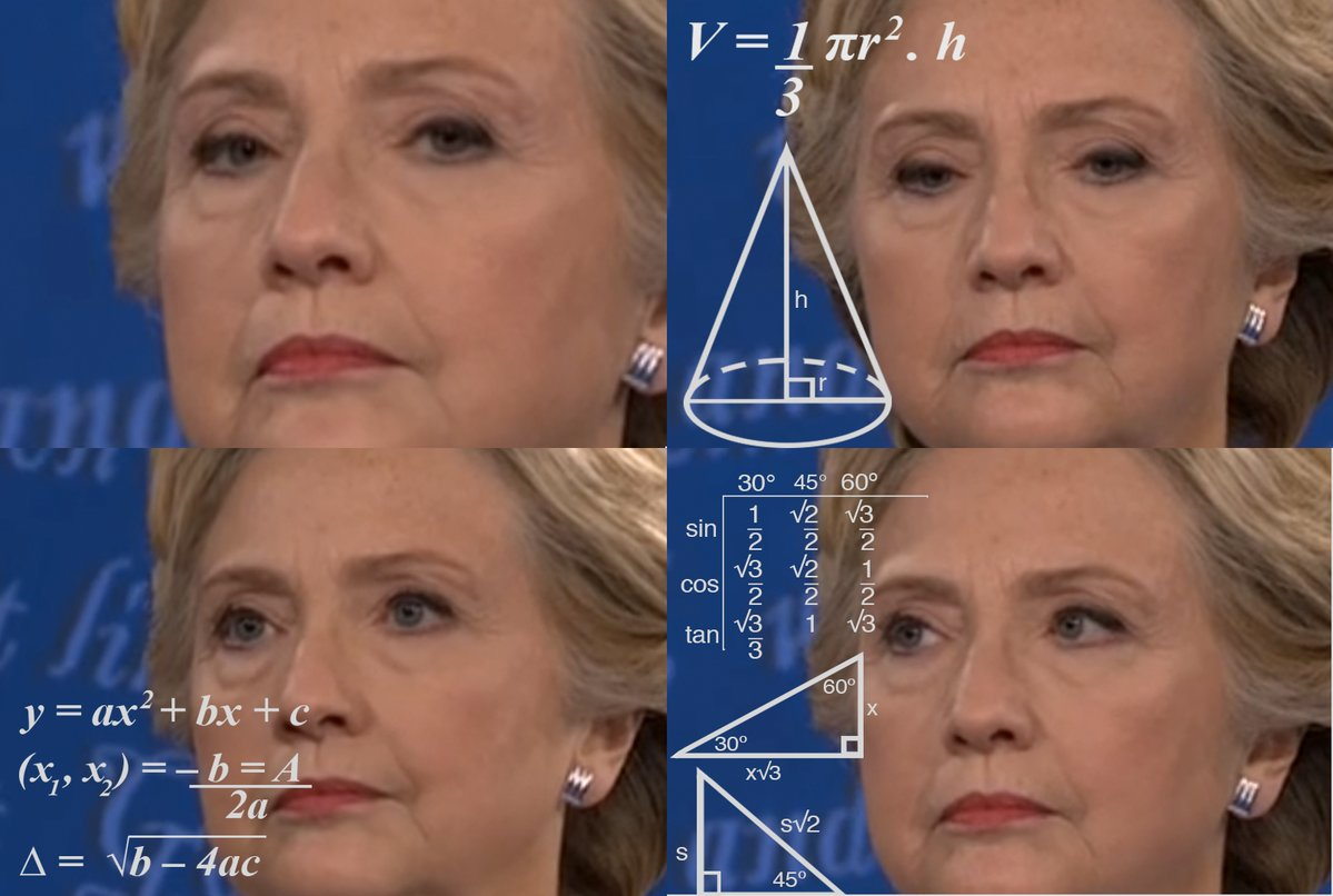 Confused math lady meme template